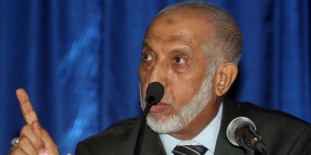 Abdelaziz Belkhadem, secretary general of the National Liberation Front (FLN), speaks during a meeting of the FLN prior to a vote of confidence over Belkhadem's position, in Algiers on January 31, 2013. The central committee of Algeria's ruling party relieved its chief Belkhadem of his duties, an AFP journalist reported. AFP PHOTO/STR        (Photo credit should read -/AFP/Getty Images)