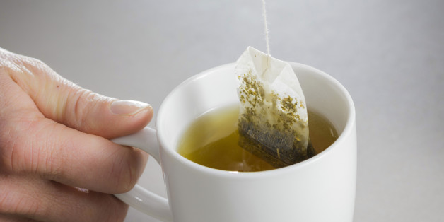 Berlin, Germany - January 26: In this photo illustration a tea bag is brewed in a cup of hot water on January 26, 2016 in Berlin, Germany. (photo illustration by Thomas Trutschel/Photothek via Getty Images)