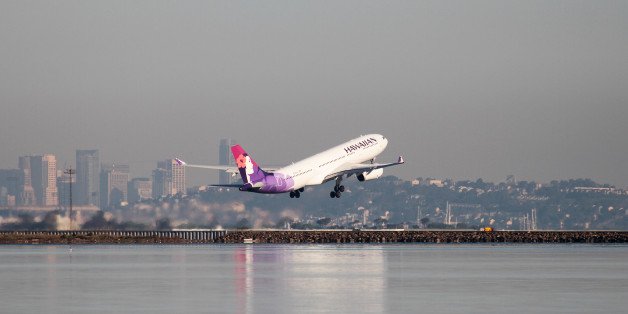 A Hawaiian Airlines Airbus A330-200 takes off at San Francisco International Airport, San Francisco, California, February 16, 2015.   REUTERS/Louis Nastro