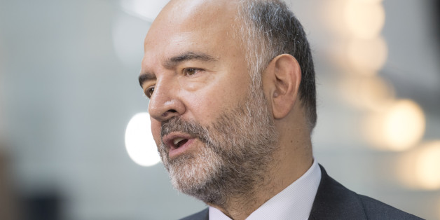 Pierre Moscovici, economic commissioner for the European Union (EU), speaks during a Bloomberg Television interview at the European Parliament in Strasbourg, France, Wednesday, Sept. 14, 2016. European Commission President Jean-Claude Juncker said that the coming year will be vital for the European Union as it seeks to remain relevant following the U.K. decision to quit the 28-nation bloc. Photographer: Jasper Juinen/Bloomberg via Getty Images