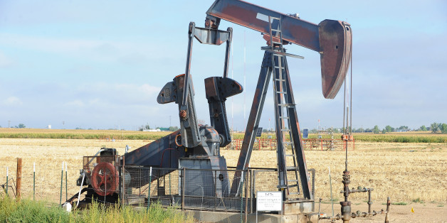 WELD COUNTY, CO - SEPTEMBER 14: An oil pump or pump jack in a field with energy development still going strong on Thursday, September 14, 2016. (Photo by Steve Nehf/The Denver Post via Getty Images)