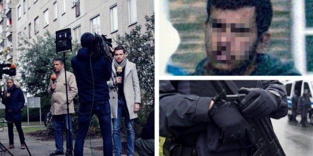 Ein Polizist nach dem Einsatz in Chemnitz