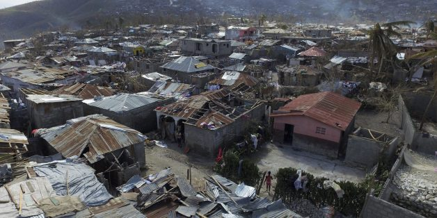 Aerial views of Jeremie, 188 km west of Port-au-Prince, on October 10, 2016, following the passage of Hurricane Matthew. Haiti faces a humanitarian crisis that requires a 'massive response' from the international community, the United Nations chief said , with at least 1.4 million people needing emergency aid following last week's battering by Hurricane Matthew. / AFP / NICOLAS GARCIA        (Photo credit should read NICOLAS GARCIA/AFP/Getty Images)