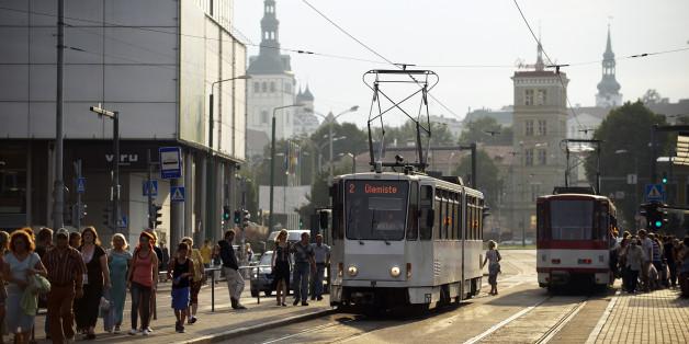 Estonia (Baltic States), Harju Region, Tallinn, European Capital of Culture 2011, the modern town, the tramway