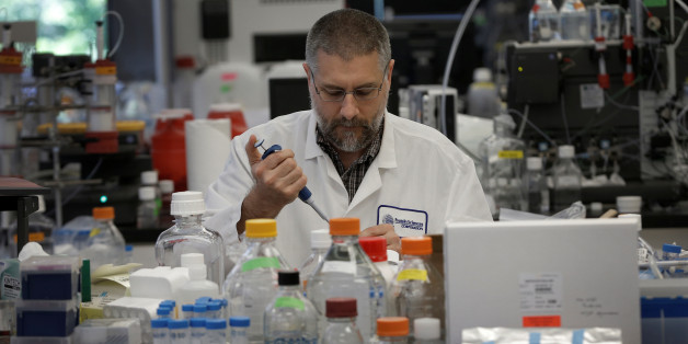 Research scientist Dan Galperin works on Purified Recombinant Zika Enveloped Protein in his laboratory where they are working on developing a vaccine for the Zika virus based on production of recombinant variations of the E protein from the Zika virus at the Protein Sciences Inc. headquarters in Meriden, Connecticut, U.S., June 20, 2016. Picture taken June 20, 2016. REUTERS/Mike Segar