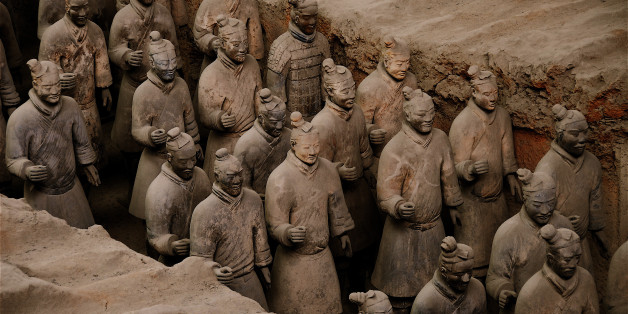 China, Shaanxi Province, near Xian, Lintong site listed World Heritage by UNESCO, terracotta army guarding the first Emperor Qin Shi Huangdi's tomb