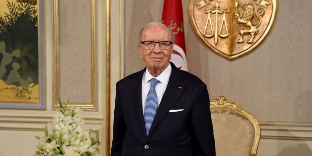 Tunisian President Beji Caid Essebsi waits prior to appointing Tunisia's newly appointed prime minister-delegate at Carthage Palace in Carthage, some 15 kilometres on the outskirts of Tunis, on August 3, 2016.