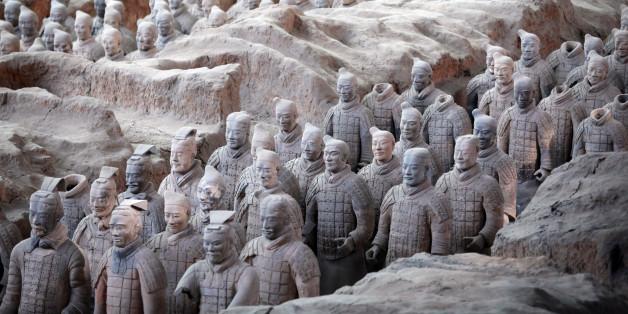 Die berühmte Terrakotta-Armee könnte mit Hilfe von Künstlern aus dem antiken Griechenland entstanden sein.
