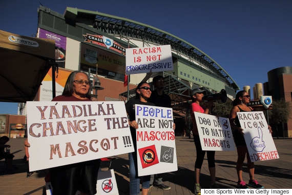 cleveland indians protests
