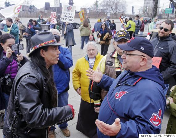cleveland indians protest