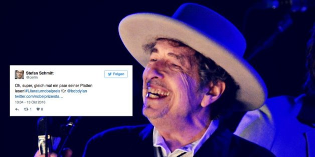 Der Musik Bob Dylan hat den Literaturnobelpreis gewonnen.