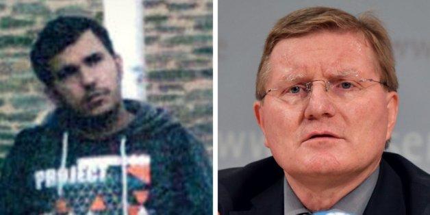 Der terrorverdächtige Dschaber al-Bakr und der Anstaltsleiter der Justizvollzugsanstalt Leipzig, Rolf Jacob