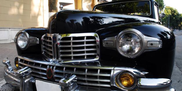 Black classic american style car