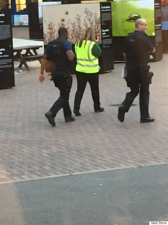police at london zoo