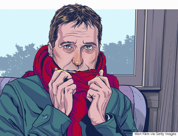 living with depression illustration