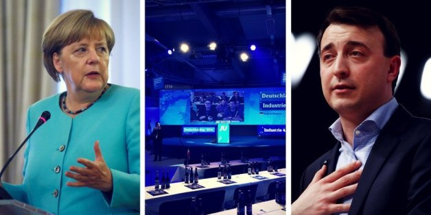 Angela Merkel und JU-Chef Paul Ziemiak