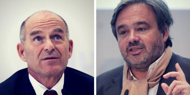 Tengelmann-Chef Karl-Erivan Haub (li.) und Rewe-Chef Alain Caparros