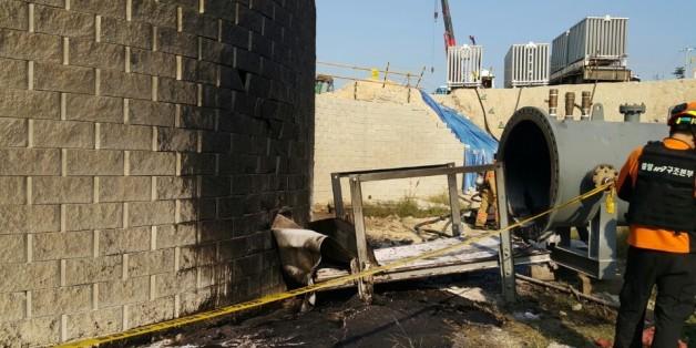 14일 오후 2시35분께 울산시 울주군 온산읍 한국석유공사 울산지사에서 원유배관 이설공사 중 폭발사고로 6명의 인명피해가 났다.