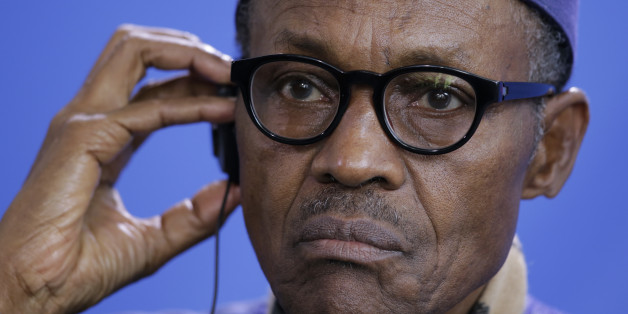 The President of Nigeria Muhammadu Buhari attends a news conference with German Chancellor Angela after talks at the chancellery in Berlin, Germany, Friday, Oct. 14, 2016. (AP Photo/Markus Schreiber)