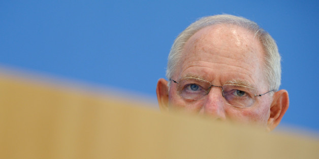 Finance Minister Wolfgang Schaeuble speaks at a news conference on 2017 budget and financial plan till 2020 in Berlin, Germany July 6, 2016. REUTERS/Stefanie Loos