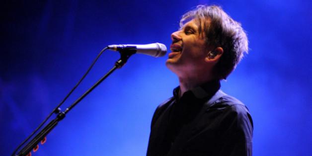 Alex Kapranos, Sänger der Band Franz Ferdinand, bei einem Auftritt in Spanien
