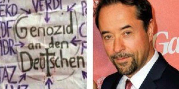 Dieses Plakat reckten Demonstranten in den Dresdner Himmel.