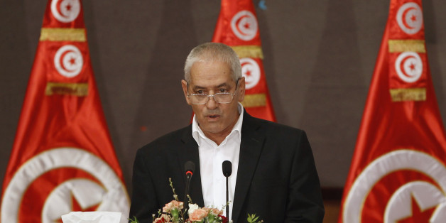 Secretary General of the Tunisian General Labour Union (UGTT) Houcine Abassi speaks during the National Conference for Dialogue, which aims to pave the way for the formation of a transitional government, in Tunis October 5, 2013. Tunisia's ruling Islamists on Saturday began talks with secular opponents to prepare for a transitional government and elections to end political deadlock in the North African country. REUTERS/Zoubeir Souissi (TUNISIA - Tags: POLITICS )