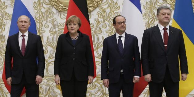 Bundeskanzlerin Angela Merkel wird den russischen Präsidenten Wladimir Putin in Berlin empfangen