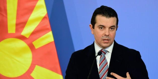 Mazedoniens Außenminister Nikola Poposki macht der EU heftige Vorwürfe