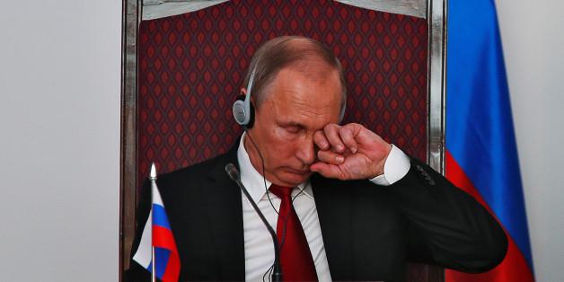 Der russische Präsident Wladimir Putin während einer Indien-Reise am Sonntag