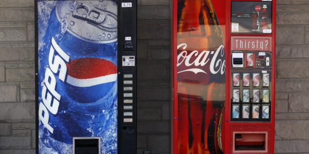Getränkeautomaten von Coca-Cola und Pepsi im US-Bundesstaat Indiana