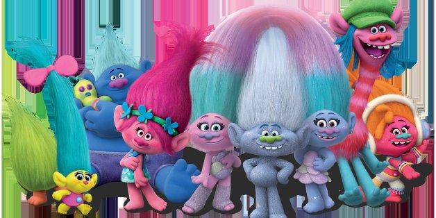 """Wo sie auftauchen, geht es bunt zu: Die """"Trolls"""" sind neu in den Kinostarts der Woche und versprechen jede Menge Spa&szlig"""