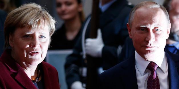 Angela Merkel und Wladimir Putin vor ihrem Treffen in Berlin