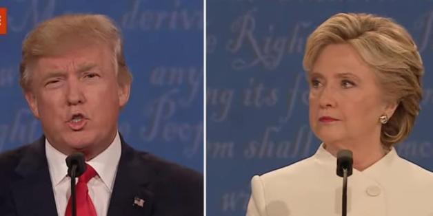 Donald Trump und Hillary Clinton bei der dritten TV-Debatte