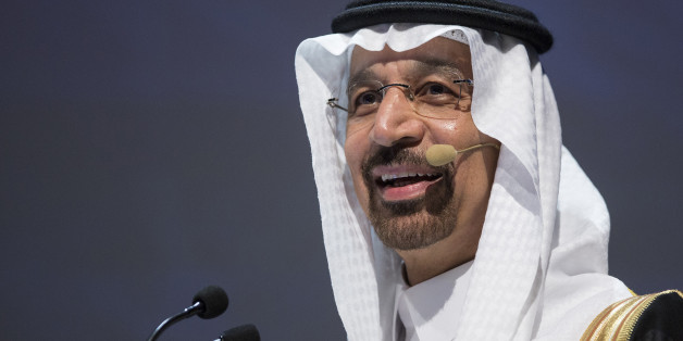 Khalid Al-Falih, Saudi Arabia's energy minister, speaks during the 23rd World Energy Congress in Istanbul, Turkey, on Monday, Oct. 10, 2016. The oil-price could recover to $60 a barrel by the end of 2016, said Al-Falih, just weeks after agreeing to cut supply for the first time in eight years. Photographer: Kerem Uzel/Bloomberg via Getty Images