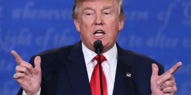 Donald Tump während der Debatte am Mittwochabend