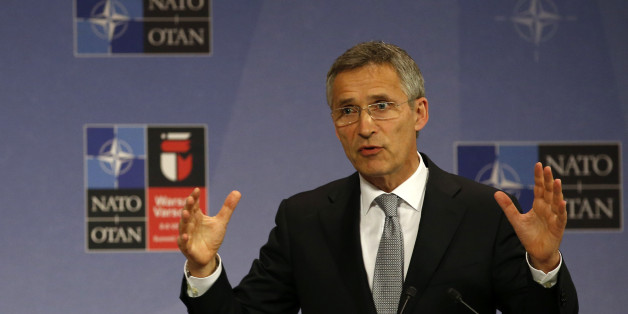 NATO Secretary General Jens Stoltenberg speaks during a news conference at NATO headquarters in Brussels, Belgium, Wednesday, July 13, 2016. NATO and Russia remain at loggerheads over Ukraine but will consider a proposal to reduce the risk of an accidental military confrontation in Baltic airspace, NATO's chief said Wednesday. (AP Photo/Darko Vojinovic)