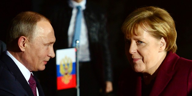 Bundeskanzlerin Angela Merkel und der russische Präsident Wladimir Putin