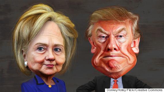 hillary trump caricatures