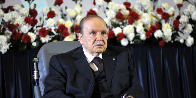 ALGIERS, ALGERIA - APRIL 28:  Algerian President Abdelaziz Bouteflika is sworn in for a fourth five-year term at a presidential palace in western Algiers, Algeria on April 28, 2014. The ceremony held at a presidential palace in western Algiers was attended by a large number of senior government officials along with former presidential hopeful Louisa Hanoune, the head of Algeria's Workers' Party. (Photo by Bechir Ramzy/Anadolu Agency/Getty Images)