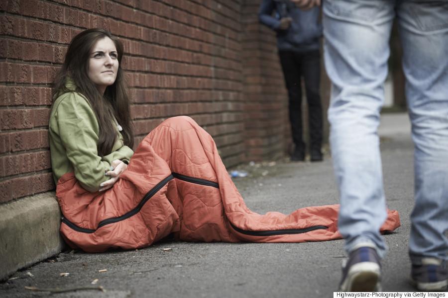 women homeless