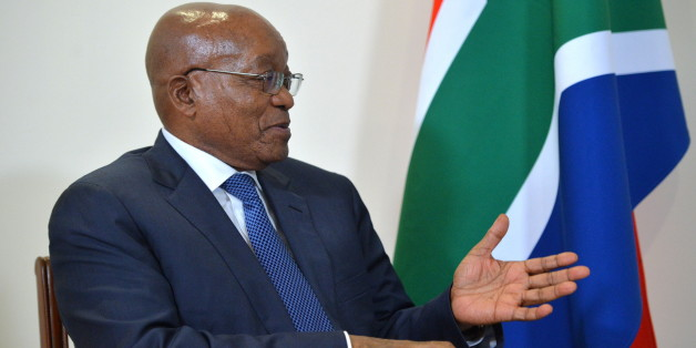 GOA, INDIA - OCTOBER 15, 2016: South Africa's President Jacob Zuma during a meeting with Russia's President Vladimir Putin at the Taj Exotica hotel in the town of Benaulim. Alexei Druzhinin/Russian Presidential Press and Information Office/TASS (Photo by Alexei Druzhinin\TASS via Getty Images)