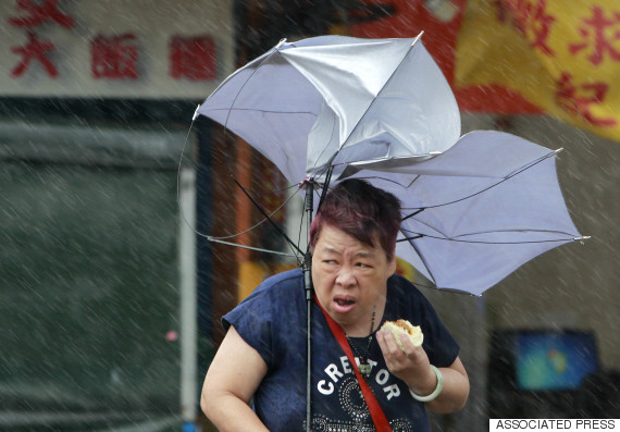 taiwan typhoon woman