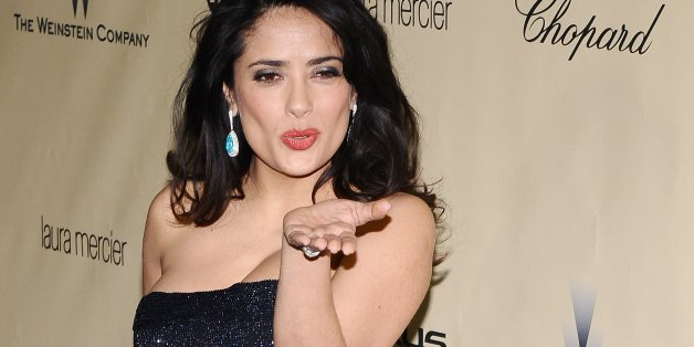 Salma Hayek at The Weinstein Company 2013 Golden Globes After Party at The Old Trader Vic's at the Beverly Hilton Hotel in Beverly Hills Sunday evening. (Photo by Axel Koester/Corbis via Getty Images)