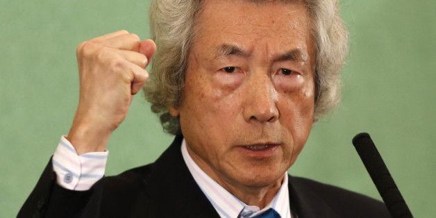 Japan's former Prime Minister Junichiro Koizumi speaks at the Japan National Press Club in Tokyo November 12, 2013. Koizumi publicly called for an end to Japan's use of nuclear power on Tuesday.    REUTERS/Toru Hanai (JAPAN - Tags: POLITICS ENERGY ENVIRONMENT HEADSHOT PROFILE)