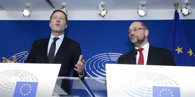 EU-Parlamentspräsident Martin Schulz und der wallonische Regierungschef Paul Magnette trafen sich in Brüssel zu Gesprächen.