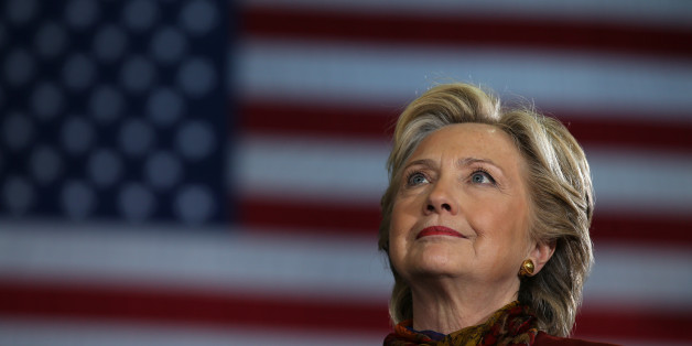 U.S. Democratic presidential nominee Hillary Clinton attends a campaign rally accompanied by vice presidential nominee Senator Tim Kaine (not pictured) in Pittsburgh, U.S., October 22, 2016. REUTERS/Carlos Barria     TPX IMAGES OF THE DAY