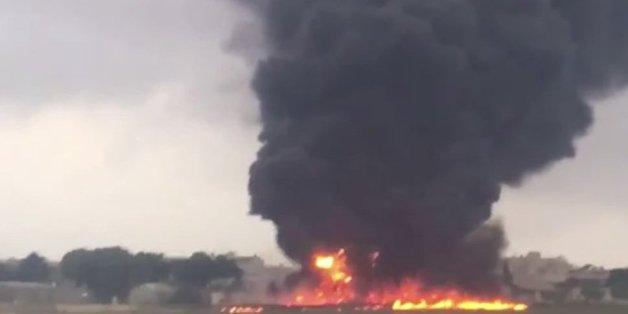 EU-Flugzeug stürzt über Malta ab: Fünf Tote