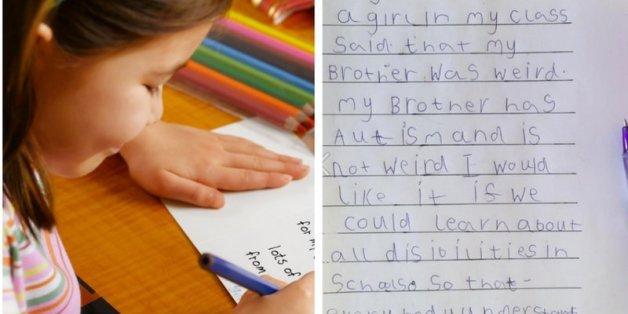 """""""An das Kind, das meinen Bruder seltsam nannte"""": Der herzzereißende Brief einer 6-Jährigen"""