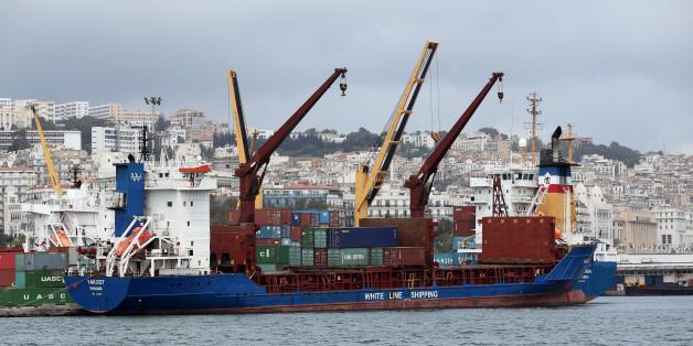 View of Port of Algiers on April 24, 2016, the country's principal maritime facility for general cargo and passengers 